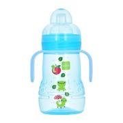 MAM, butelka treningowa z ustnikiem,  szerokootworowa, niebieska, 220 ml