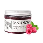 Fresh&Natural, cukrowy peeling do ciała, malinowy, 550 g