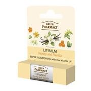 Green Pharmacy, balsam do ust, intensywnie odżywczy, miód i wanilia, SPF 10, 3,6 g