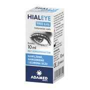 Hialeye Free, 0,4%, krople do oczu, 10 ml