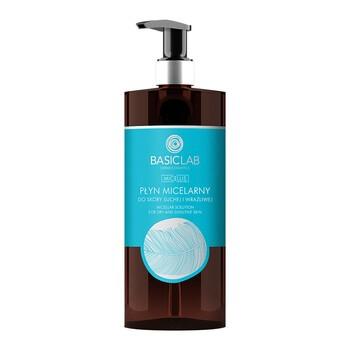 BasicLab Micellis, płyn micelarny do skóry suchej i wrażliwej, 500 ml