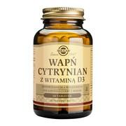 Solgar Wapń Cytrynian z witaminą D3, tabletki, 60 szt.