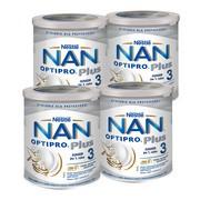 Zestaw 4x Nestle Nan Optipro Plus 3 HM-O, mleko modyfikowane Junior dla dzieci po 1 roku, 800 g