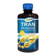 Tran Islandzki o smaku cytrynowym, olej, 250 ml