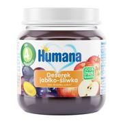 Humana 100% Organic, Deserek jabłko-śliwka, 4 m+, 125 g