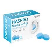 Haspro Moldable, formowane zatyczki do uszu, niebieskie, 6 par