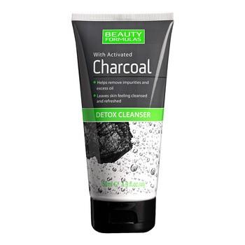 Beauty Formulas, żel do mycia twarzy, detoks z aktywnym węglem, 150 ml