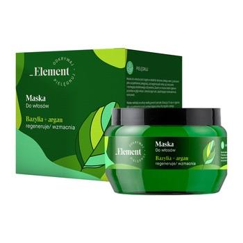 Vis Plantis Basil Element, maska do włosów regenerująca, bazylia + argan, 200 ml