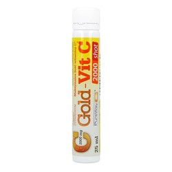 Olimp Gold-Vit C 2000 Shot, płyn w ampułkach, smak cytrynowy, 25 ml, 1 szt.
