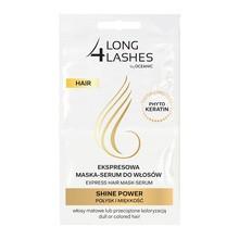Long 4 Lashes, ekspresowa maska serum do włosów z fitokeratyną SHINE POWER, 2 x 6 ml
