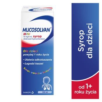 Mucosolvan Mini, 15 mg/5 ml, syrop, 100 ml