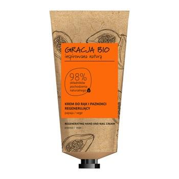 Gracja Bio, regenerujący krem do rąk i paznokci, papaja, 50 ml
