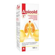 Apicold 1+, syrop z korzenia prawoślazu, z dodatkiem miodu, 100 ml