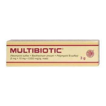 Multibiotic, (5 mg + 10 mg + 0,833 mg)/g, maść, 3 g