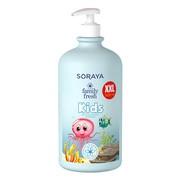 Soraya Family Fresh Kids, żel pod prysznic i szampon 2 w 1 dla dzieci, 1000 ml