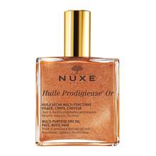 Nuxe Huile Prodigieuse OR, suchy olejek ze złotymi drobinkami do twarzy, ciała i włosów, 100 ml