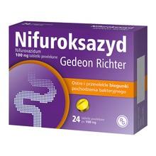 Nifuroksazyd Gedeon Richter, 100 mg, tabletki powlekane, 24 szt.