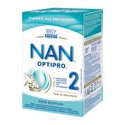Nestle Nan Optipro 2, mleko następne dla niemowląt po 6 miesiącu 800 g