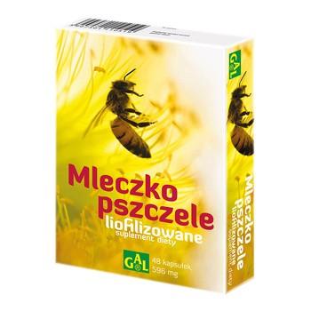 Mleczko pszczele liofilizowane, 596 mg, kapsułki, 48 szt.