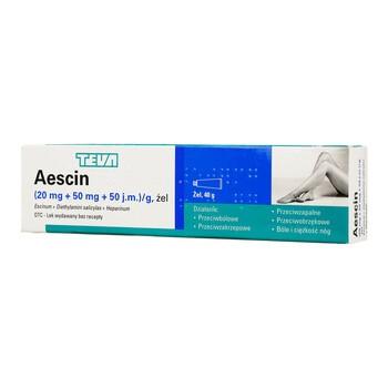 Aescin, żel, 40 g