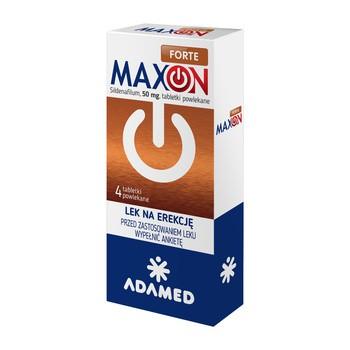 Maxon Forte, 50 mg, tabletki powlekane, 4 szt.