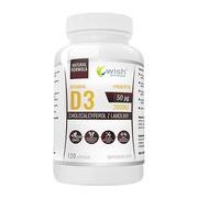 Wish Witamina D3 50 µg + L-leucyna + prebiotyk, kapsułki, 120 szt.