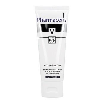 Pharmaceris V Viti-Melo Day, ochronny krem dla skóry z problemem bielactwa, do twarzy i ciała, SPF 50+, 75 ml