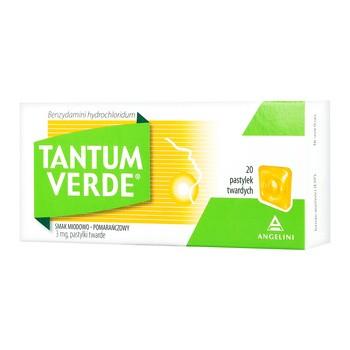 Tantum Verde smak miodowo-pomarańczowy 3 mg, pastylki twarde, 20 szt.