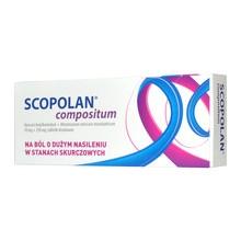 Scopolan compositum, 10 mg+250 mg, tabletki powlekane, 10 szt.