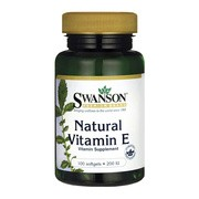Swanson Witamina E naturalna, 200 IU, kapsułki, 100 szt.