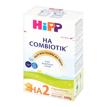 HiPP 2 HA Combiotik, mleko następne, 6 m+, proszek, 600 g