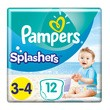 Pampers Splashers 3-4, pieluszki do pływania i na plażę (6-11 kg), 12 szt.