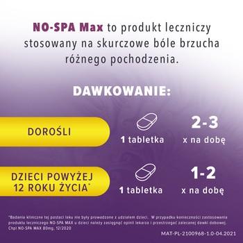 No-Spa Max, 80 mg, tabletki powlekane, 20 szt.