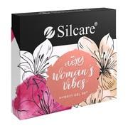 Silcare Flexy Women Vibes, zestaw lakierów hybrydowych 3 kolory + 2w1 top/baza, 4 x 4,5 g