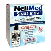 Sinus Rinse Kit, zestaw podstawowy do płukania nosa (Import równoległy, Pharmapoint), 60 saszetek + butelka
