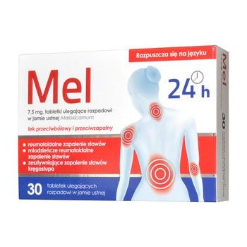 Mel, 7,5 mg, tabletki ulegające rozpadowi w jamie ustnej, 30 szt.