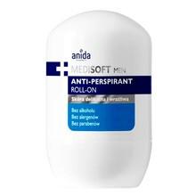 Anida Medi Soft Men, antyperspirant roll-on, do skóry delikatnej i wrażliwej, 50 ml