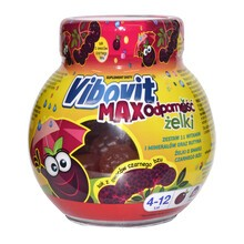 Vibovit Max Odporność, żelki, smak czarnego bzu, 50 szt.