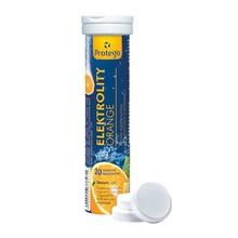 Protego Elektrolity Orange, tabletki musujące, wzbogacone witaminą C, 20 szt.