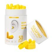 Haspro Tube, stopery do uszu, żółte, 50 par