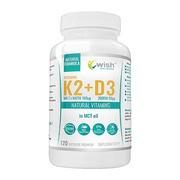 Wish Witamina K2 MK-7 natto + witamina D3 w oleju MCT, kapsułki, 120 szt.