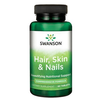 Swanson Włosy, skóra, paznokcie, tabletki, 60 szt.