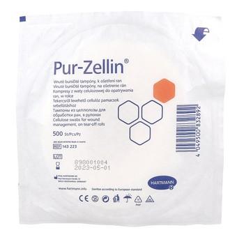 Pur-Zellin, kompres z waty celulozowej, rolka, 4 x 5 cm, 500 szt.