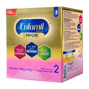 Enfamil Premium MFGM 2 mleko modyfikowane, następne, w proszku,  1200 g (3 x 400 g)