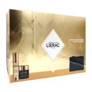 Zestaw Promocyjny Lierac Premium, odżywczy krem przeciwstarzeniowy, 50 ml + kuracja uderzeniowa dawka młodości, 30 ml + kosmetyczka GRATIS