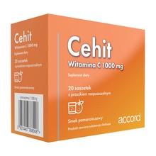 Cehit, witamina C, smak pomarańczowy, proszek w saszetkach, 20 szt.