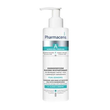 Pharmaceris A Puri-Sensimil, mikrosferyczne mleczko oczyszczające do demakijażu twarzy i oczu, 190 ml