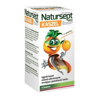 Natursept MED kaszel, lizaki o smaku pomarańczowym, 6 szt.