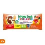 Zdrowy Lizak MniamMniam, na ząbki kości i odporność z witaminą C i D, smak mango, lizaki, 40 szt.
