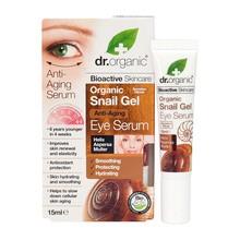 Dr. Organic Snail Gel, serum pod oczy ze śluzem ślimaka, 15 ml